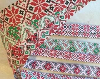 "3/4"" Weaving Star Paper~ Ukrainian/Nordic Folk Art Lone Star (50 strips)"