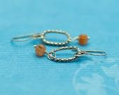 SALE - Orange Carnelian Earrings