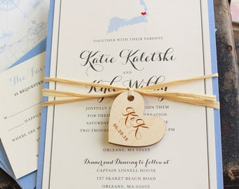 State Love Wedding Invitation (Massachusetts) - Design Fee