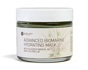 BioMarine Hydrating Mask with Hyaluronic Acid| Mineral Facial Mask| Dry Skin Mask| Algae Facial Mask| Natural Facial Mask| Exfoliating Mask|