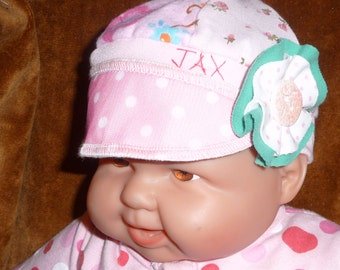 Infant Jax Hat in a rainbow of prints and colors with polkadots for infant 0-6 months