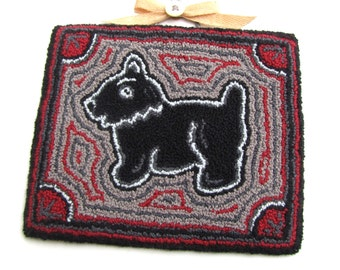 SALE! Scottie Dog PDF Punch Needle Pattern. Needle Punch Embroidery Pattern. Digital Pattern Instant Download Embroidery Craft Pattern