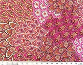20% Off SALE! Designer Closeout FABRIC - Swimwear Knit - Paisley - Fuchsia Orange White
