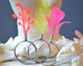 Neon Coral Reef Stacking Rings