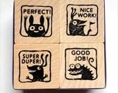 Monster rubber stamps for teachers -- set #2