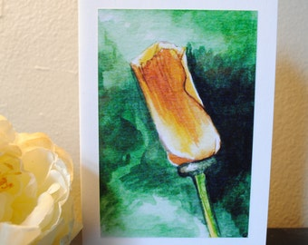 Poppy Watercolor Print Notecard