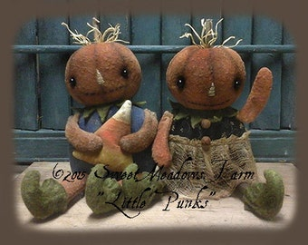Primitive Doll Pattern Little Punks, Pumpkin dolls Epattern