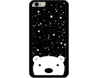 Phone Case - Polar Bear - Hard Case for iPhone 4, 4s, 5, 5s, 5c, 6, 6 Plus - iPod Touch 4, 5 - Galaxy S3, S4, S5