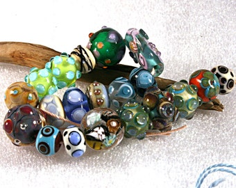 Lampwork  Art Beads by Jeanniesbeads 652