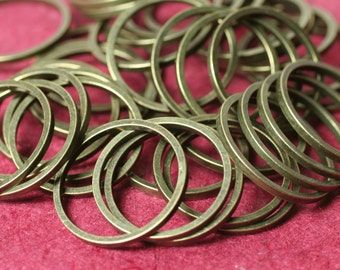 Antique brass circular link connector O ring 16mm in diameter 1mm (18g) thick, 36 pcs (item ID YWFA00008AB)