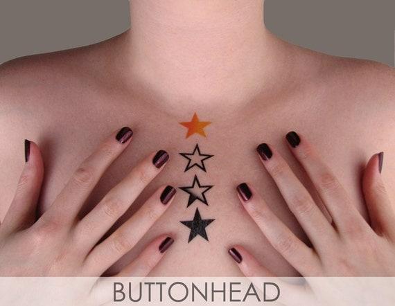 Temporary Stars Tattoos - Burlesque Adult Halloween Costume Accessories - Star Tattoos