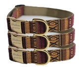 Engraved Woven Tribal Dog Collar - Aztec Personalized Collar - Woven Muskogee(Shown with optional Engraving)