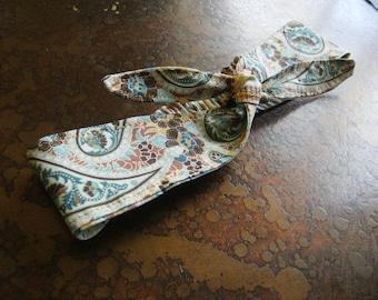 Retro Floral Knot Elastic Headband