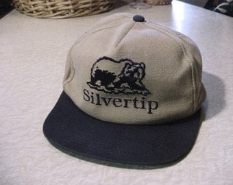 Vintage Baseball Cap Hat mens Silvertip commercial industrial construction co. collectible PA | Industrial sports Hunting redneck wall decor