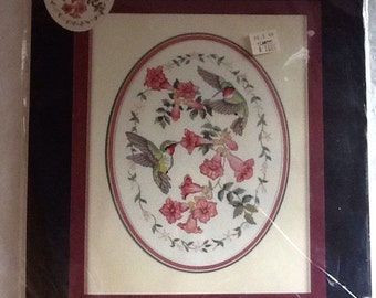 Dimensions Sweet Delight, counted cross stitch Michael Adams, Hummingbirds, # 39003 New Sealed