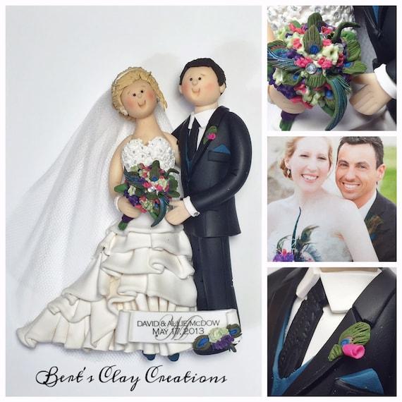 Custom Bride And Groom Ornament Deposit Please Read Item