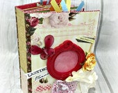 Reserved for Rosanna------BLOOMING WITH SWEETNESS All Occasion Interactive Scrapbook Scrapbooking Chipboard Album Magnet Closures