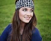 Black & White Headband, Wide Headbands, Stretch Headbands, Stretchy Headbands, Material Headband, Big, Wide Hairband Ladies, Yoga Headband