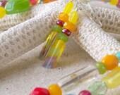 Bead Jewelry - Glass Beaded Earrings - Yellow Earrings - Dangle Earrings - Women's Beaded Earrings - Retro Earrings - Drop Earrings