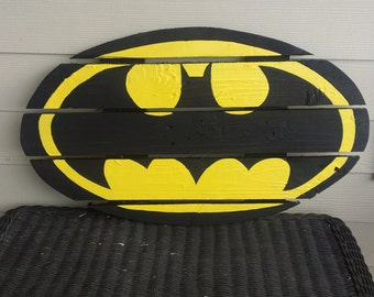 Batman Sign made from reclaimed lumber