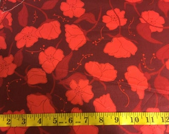 Valorie Wells Olive Rose red roses OOP by the 1/2 yard