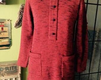 Vintage women's 1970's boho/hippie sweater. size M