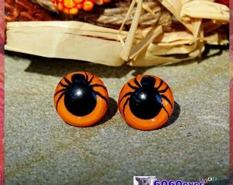 12mm Spider eyes Plastic eyes Hand Painted eyes