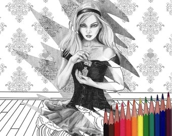 Alice In Wonderland Coloring Page Dormouse Coloring Page