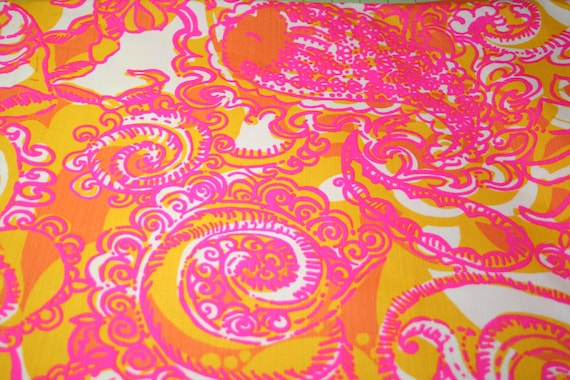 Lilly Pulitzer Dobby Cotton Fabric Sea And Be By Welovelilly