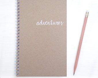 kraft foil notebook - adventures
