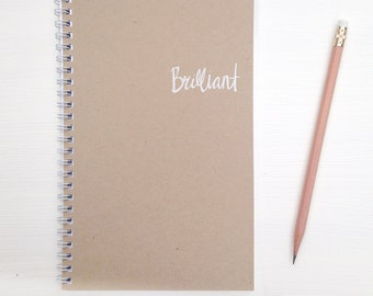 kraft foil notebook - brilliant