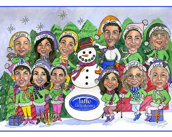 Custom Caricature Christmas Cards--Must Inquire For Exact Pricing