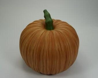 Ceramic Pumpkin - Straw Pumpkin - Fall Decoration - Autumn Display - Halloween Decor - Gold pumpkin
