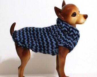 Blue Striped Dog Sweater