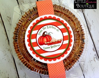 Pie Baking Labels,LARGE Pie Container Labels,Gift Stickers,Pie Packaging labels,Apple Pie,Pumpkin Pie,Kitchen stickers, 3 Labels for 8.95