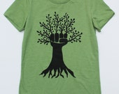 tree fist women's fitted tee