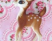 Vintage Bambi Plastic Deer Figurine