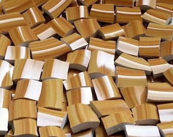 Mosaic Tiles--Maple Swirl -Bump Texture-100 Count