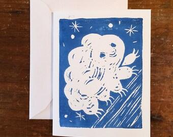 Tardigrade Waterbear Blank Greeting Card