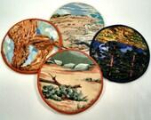 Landscape Scenes of Southwest. Cloth Coaster Set of 4  Set #22