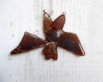 Seaglass Bat Suncatcher Ornament