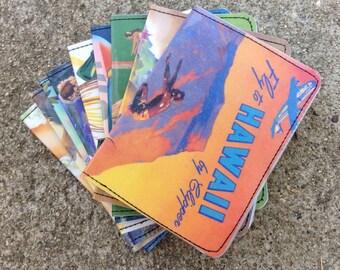 Slim Wallet- Hawaiian Travel Ad Postcards- Choose 1