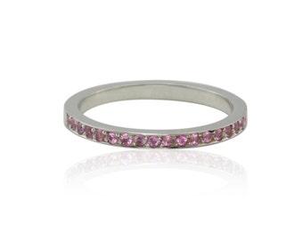 Pink Sapphire Ring, October Mother's Ring - Alternative October Birthstone - LS1574
