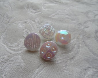 Vintage Glass Buttons-18mm