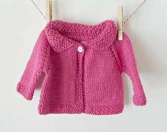 Baby Sweater, Knit Baby Sweater, Baby Girl Sweater, Hand Knit Sweater, Knit Sweater, Sweater