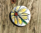 Bella Bead Jewelry Flame Painted Floral Button