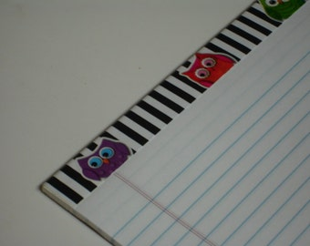Altered LARGE NOTEPAD Owls