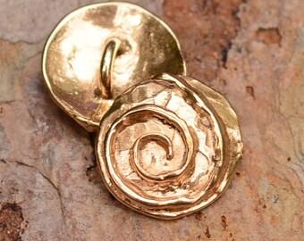 Bronze Spiral Button Clasp