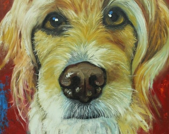 Commission a pet custom animal oil portrait by Roz