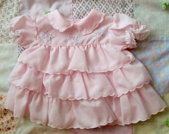 Pink Baby Dress 6-9 Months